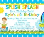 Summer Birthday Party Invitations